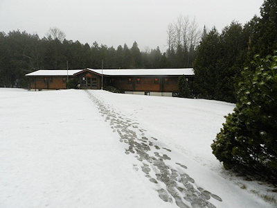 Ridley Lodge in Winter